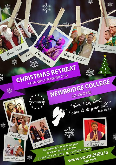 Youth 2000 Christmas Retreat - Newbridge College-18-20 Dec. @ Newbridge College | Newbridge | Kildare | Ireland